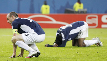 Fulham players dejected after the match
