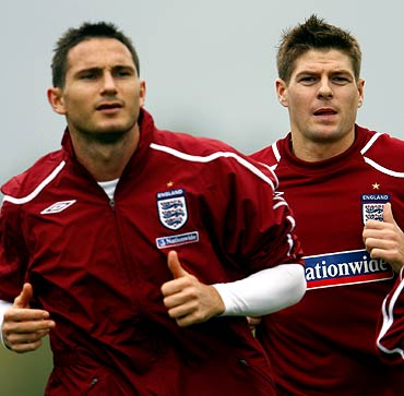 Frank Lampard (left) and Steven Gerrard