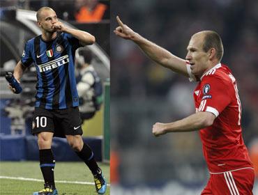 Wesley Sneijder and Arjen Robben