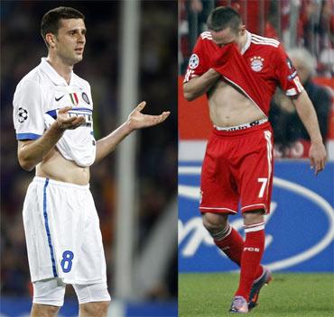 Franck Ribery and Thiago Motta