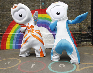 The 2012 Olympic mascot Wenlock and P
