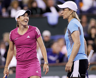 Martina Navratilova and Henin