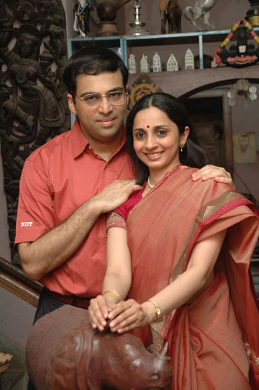 Aruna and Viswanathan Anand