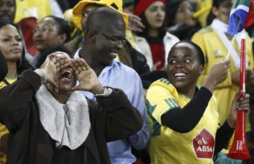South African fans during a match