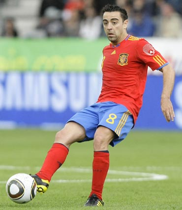 Spain's Xavi during a friendly match