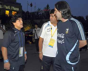 Diego Maradona and Sergio Batista