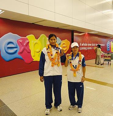 MC Marykom with Kavita Chahal