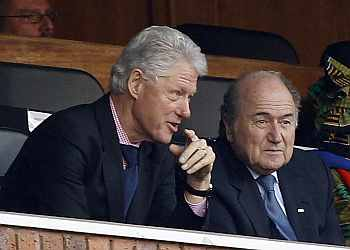 Bill Clinton with Sepp Blatter