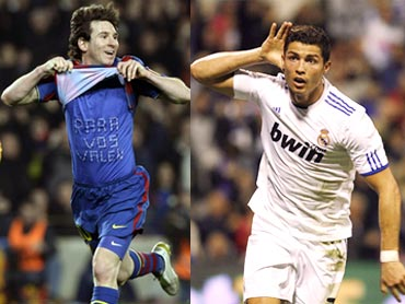 Lionel Messi (left) and Cristiano Ronaldo