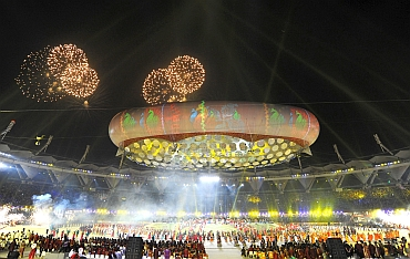 Opening ceremony of the Commonwealth Games at Nehru Stadium