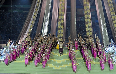Artists performing at the Commonwealth Games opening ceremony