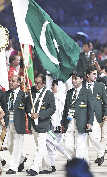 Pakistan team during opening ceremony