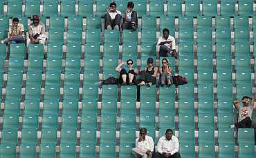 Empty stands during a match