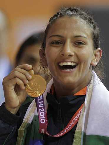 Geeta Kumari won a gold in women's 55-kg event