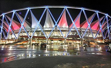 The Jawaharlal Nehru Stadium,  the main venue for the 2010 Commonwealth Games.