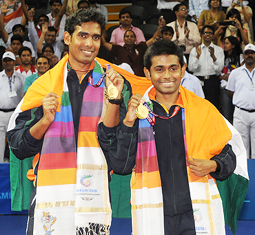 Achanta Sharath Kamal (left) and Subhajit Saha