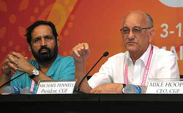 Mike Fennell and Suresh Kalmadi
