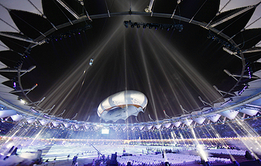 The Aerostat during the Commonwealth Games closing ceremony