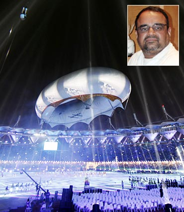 The Commonwealth Games closing ceremony. Inset: Bharat Bala