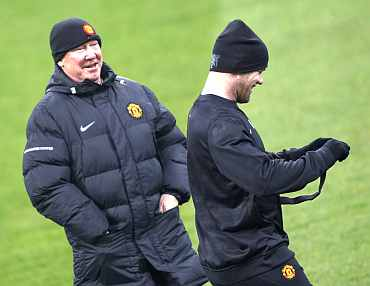 Alex Ferguson with Wayne Rooney