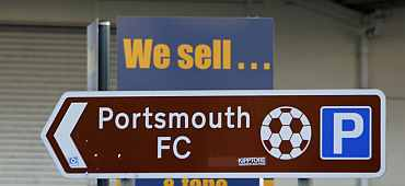 Portsmouth sign board outside the stadium