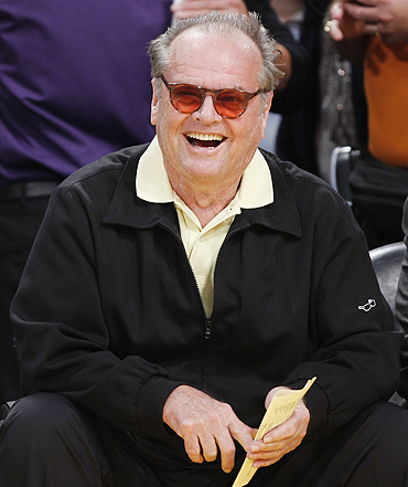 Jack Nicholson at the NBA game on Tuesday