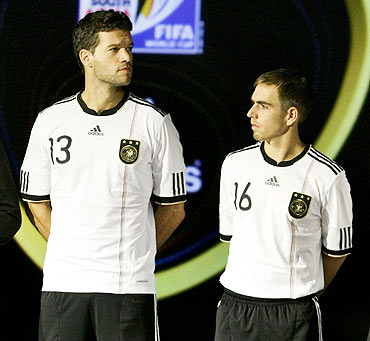 Michael Ballack and Phillipp Lahm