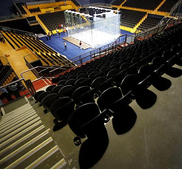 The Squash stadium inside the Siri Fort Sports Complex