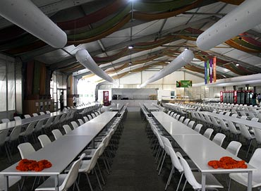 The athletes' dining area