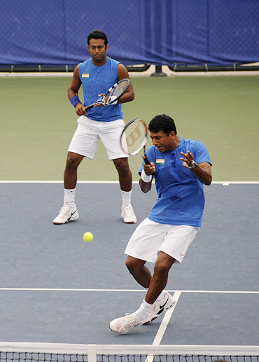 Mahesh Bhupathi and Leander Paes