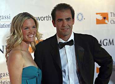 Pete Sampras and Bridgette Wilson