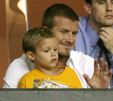 Romeo and David Beckham