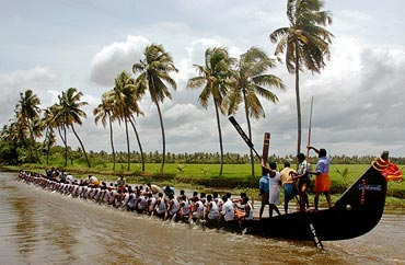 A boat race in Kerala