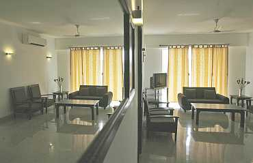 An inside view of an apartment is seen at the games village in New Delhi