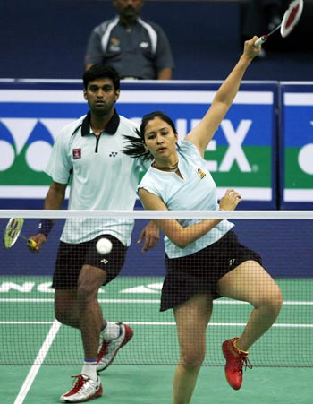 Jwala Gutta (right) and V Diju