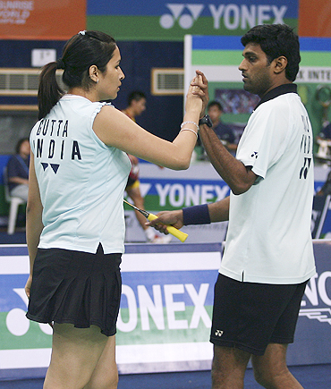 Jwala Gutta (left) and V Diju