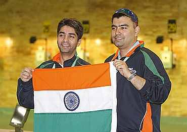 Gagan Narang and Abhinav Bindra