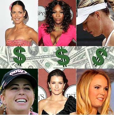 Sharapova is world's top earning female