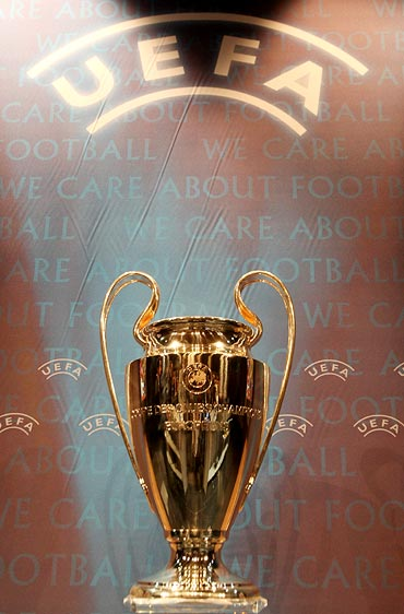 The UEFA Champions League trophy
