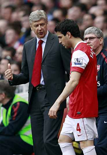 Arsene Wenger and Fabregas