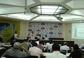 The draw for the Federation Cup at Football House in Delhi
