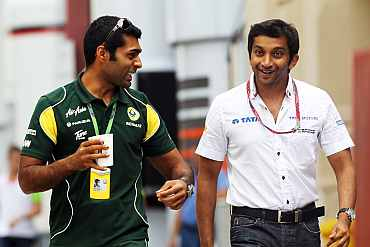 Karun Chandok and Narain Karthikeyan