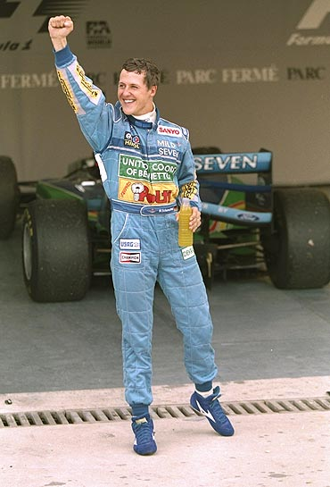 Michael Schumacher in Benetton colours in January 1994