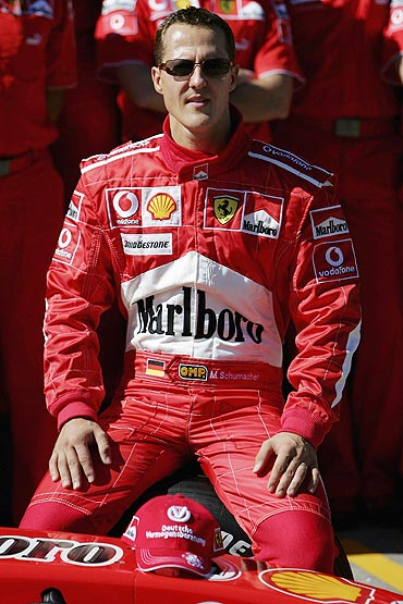 Michael Schumacher during his Ferrari days