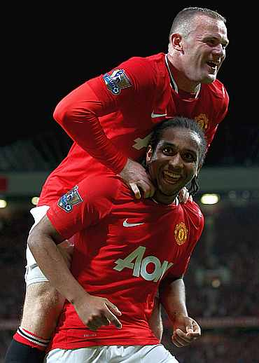 Wayne Rooney and Anderson