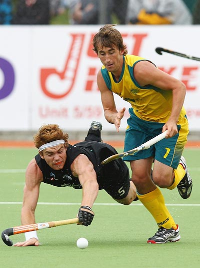 Jason Wilson of Australia with Andrew Hayward of New Zealand