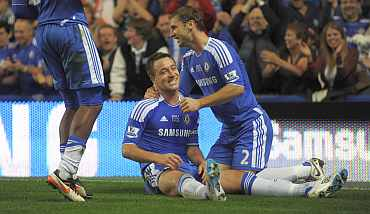 John Terry and Ivanovic