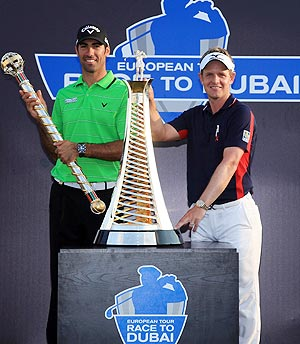 Luke Donald with Alvaro Quiros