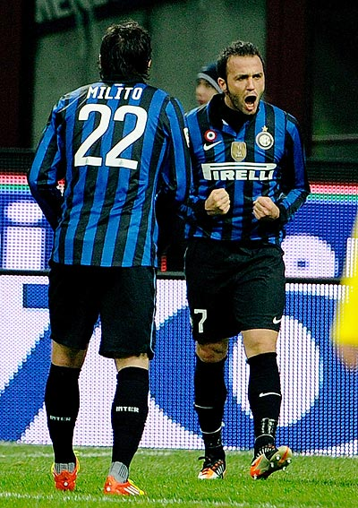 Giampaolo Pazzini of FC Inter Milan