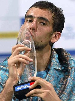 Marin Cilic with the Chennai Open trophy in 2010